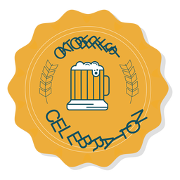 Oktoberfest celebration cup badge sticker