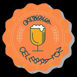 Etiqueta de distintivo de vidro celebração Oktoberfest