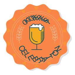 Oktoberfest celebration glass badge sticker