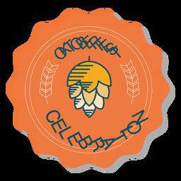 Adesivo de emblema de lúpulo de celebração da Oktoberfest