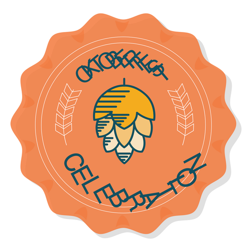 Oktoberfest celebration hop badge sticker Transparent PNG