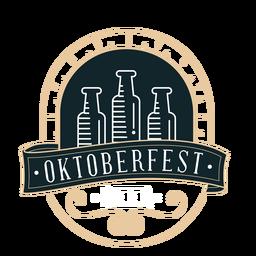 Etiqueta de distintivo de fita de garrafa Oktoberfest
