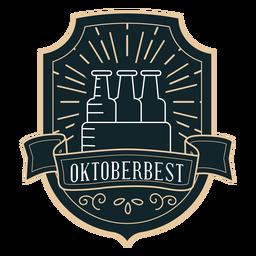 Etiqueta de distintivo de fita de caixa de Oktoberfest