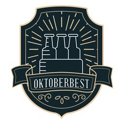 Oktoberfest box ribbon badge sticker
