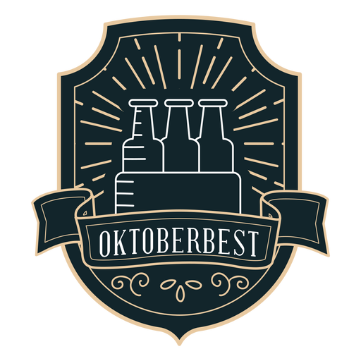 Oktoberfest box ribbon badge sticker Transparent PNG