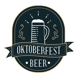 Oktoberfest cup ribbon badge sticker