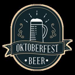Oktoberfest cup ribbon badge sticker