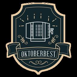 Etiqueta engomada de la insignia del dispensador de Oktoberfest