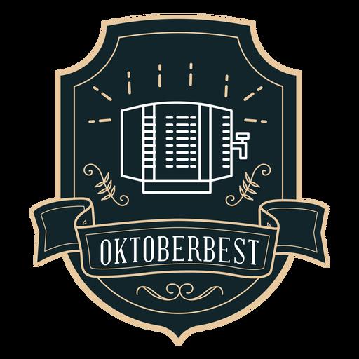 Oktoberfest dispenser ribbon badge sticker Transparent PNG