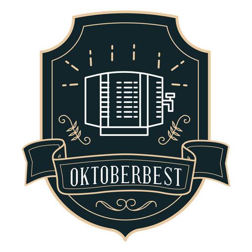 Oktoberfest dispenser ribbon badge sticker