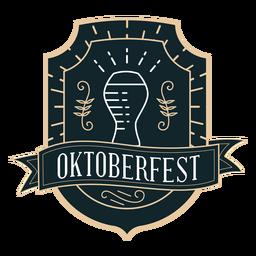 Oktoberfest glass ribbon badge sticker