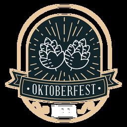 Etiqueta engomada de la cinta de lúpulo Oktoberfest