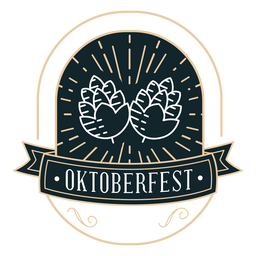 Oktoberfest hop ribbon badge sticker