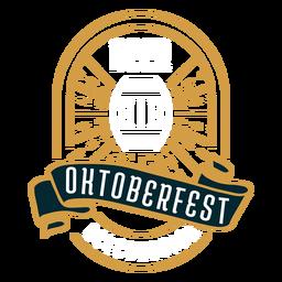 Insignia del emblema del logotipo de Oktoberfest