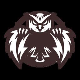 Etiqueta do emblema da coruja de águia da coruja