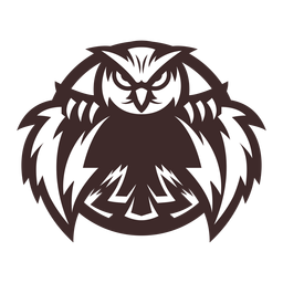 Owl eagle owl badge sticker