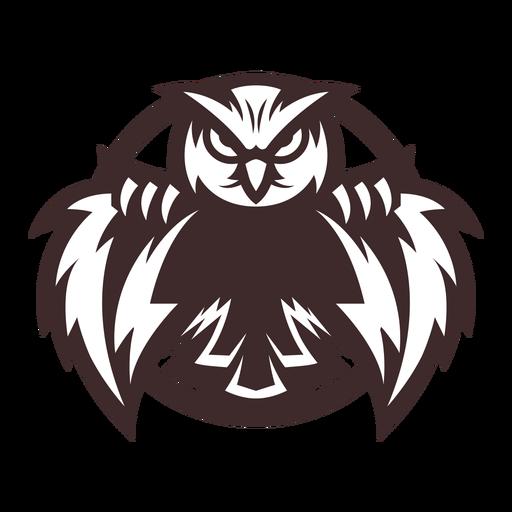 Owl eagle owl badge sticker