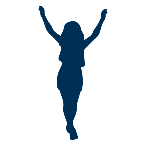 Posture girl silhouette