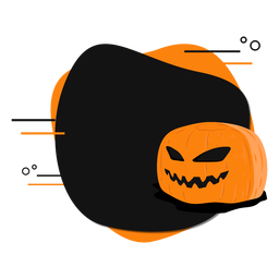 Pumpkin badge sticker