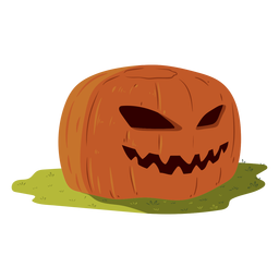 Pumpkin grin illustration