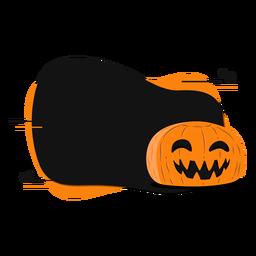 Pumpkin smile badge sticker