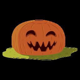 Ilustración de sonrisa de calabaza
