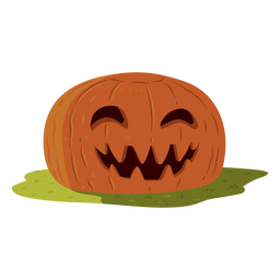 Pumpkin smile illustration