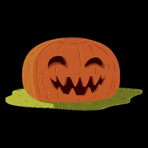 Pumpkin smile illustration Transparent PNG