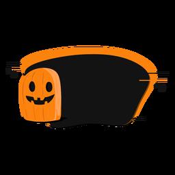 Pumpkin smile sticker badge