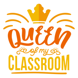 Etiqueta engomada de la insignia de la corona de la reina de mi salón de clases