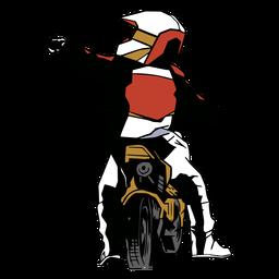 Racer motorcycle motorbike flat
