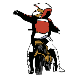 Racer Motorrad Motorrad flach