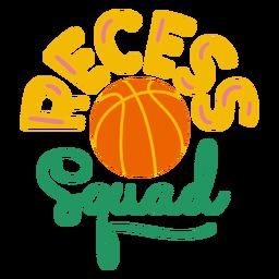 Recess squad ball badge sticker