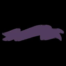 Silhueta de tecido de faixa de fita
