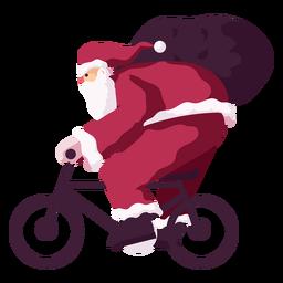 Papai Noel bicicleta ciclo saco saco plana