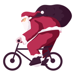 Santa claus bike cycle sack bag flat