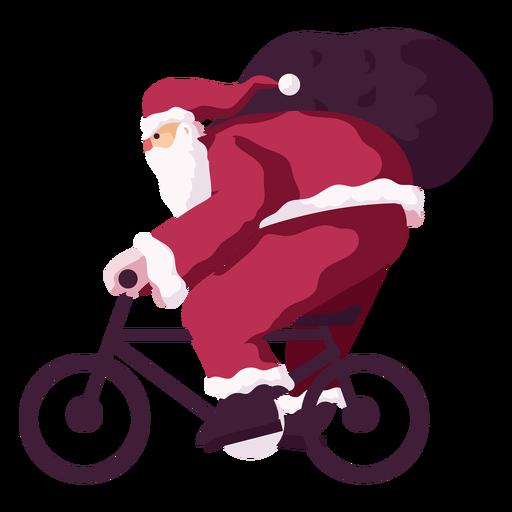 Santa claus bike cycle sack bag flat Transparent PNG
