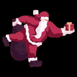 Santa claus rollers sack bag flat