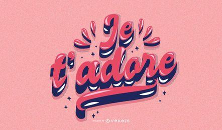 Dia dos namorados francês letras