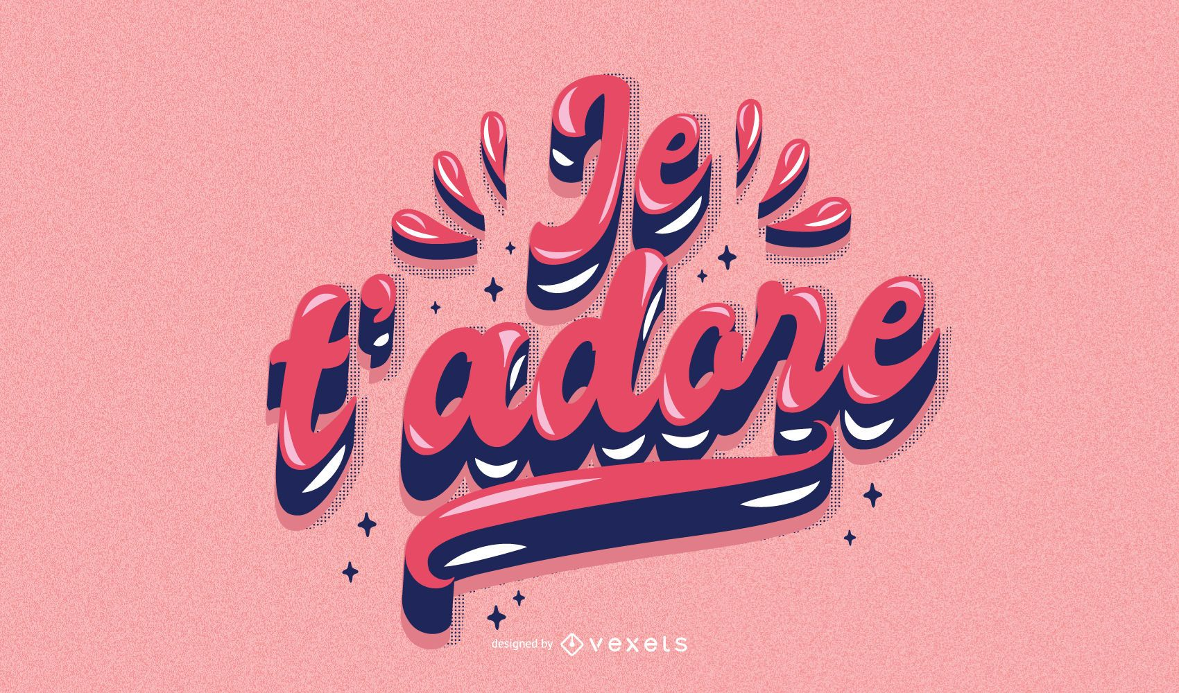 Valentine's day french lettering
