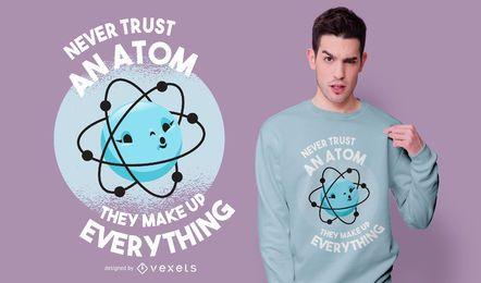 Design de t-shirt Atom