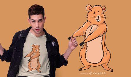 Diseño de camiseta Floss Groundhog
