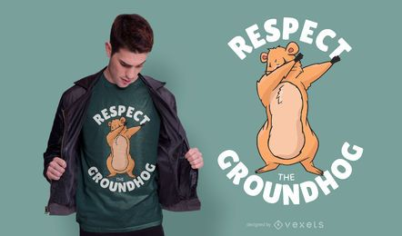 Respeta el diseño de la camiseta de la marmota
