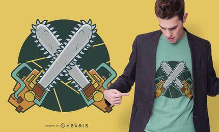 Kettensägen T-Shirt Design