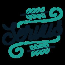 Servus badge sticker