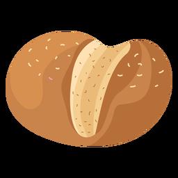 Pão de gergelim pão liso