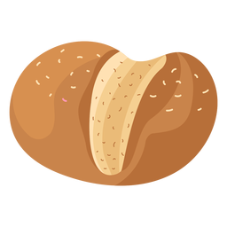 Sesame loaf bread flat