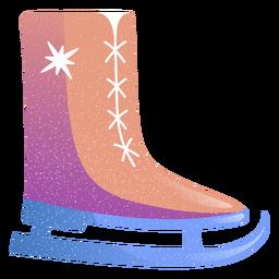 Ilustración de bota de skate