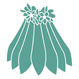 Skirt flower detailed silhouette