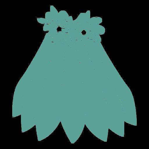 Falda flor silueta detallada Transparent PNG
